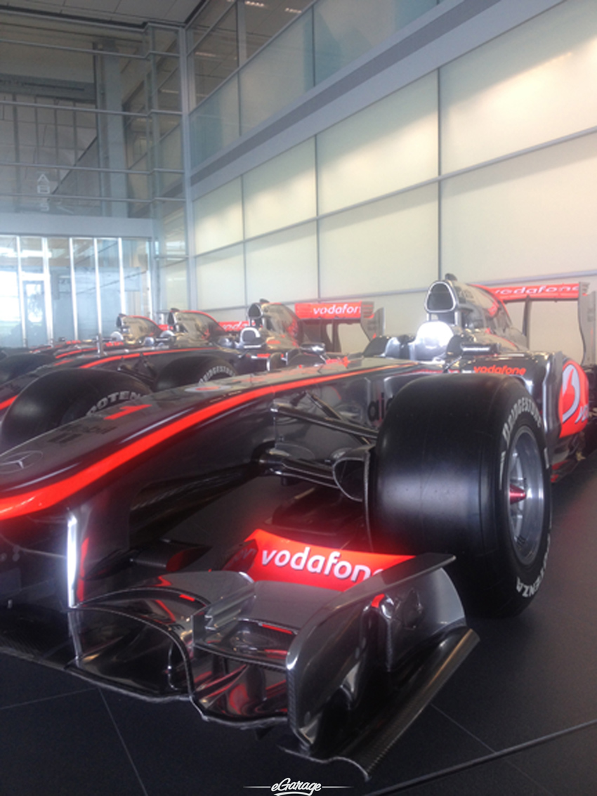 closeup McLaren MP4 28 Reveal