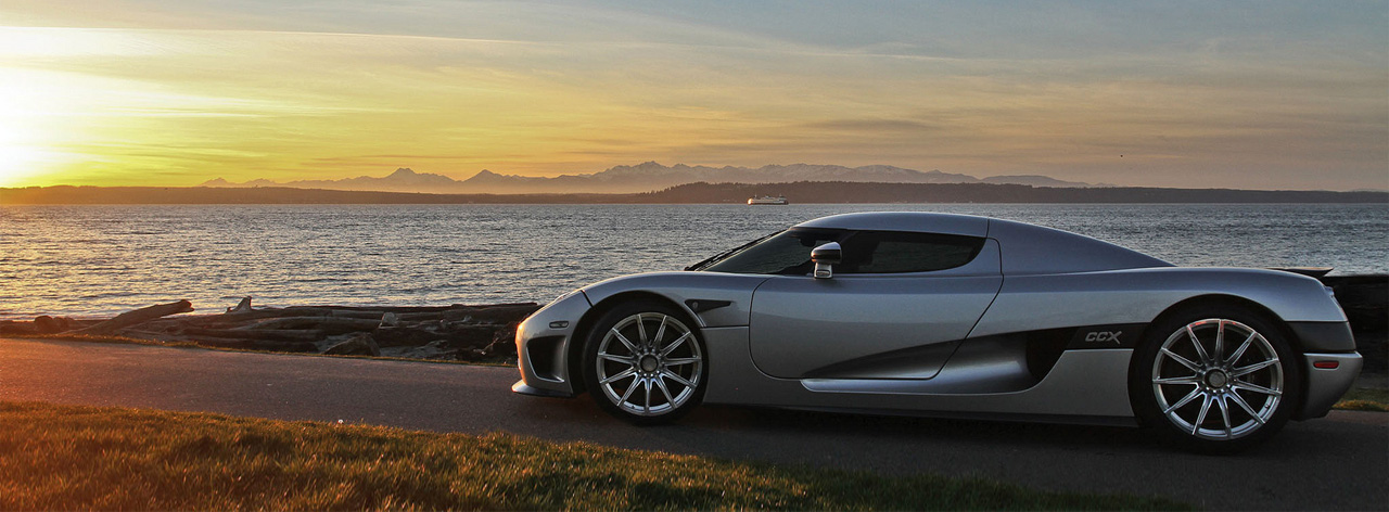 Sunset on a Koenigsegg CCX